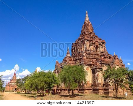 Acient Pagoda and temple in Bagan Myanmar
