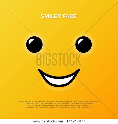 Smiley face. Yellow smile poster. World smile day. Vector illustration. Smiley vector. Smiley icon. Smiley background. Smiley wallpaper. Emoticon background. Emoticon icon. Emoticon wallpaper