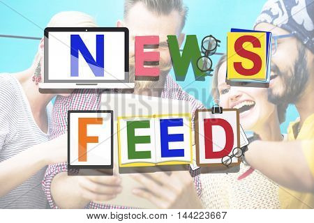 News Feed Social Media Networking Information Update Concept