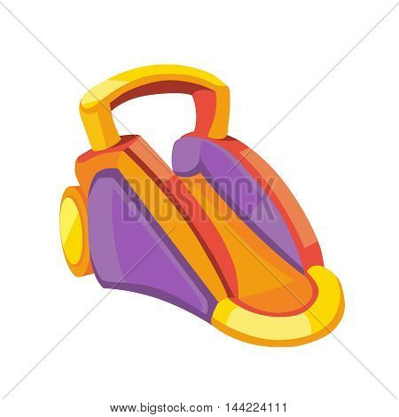Vector illustration of inflatable slides isolate on white background. Picture in flat style for your personal design projects