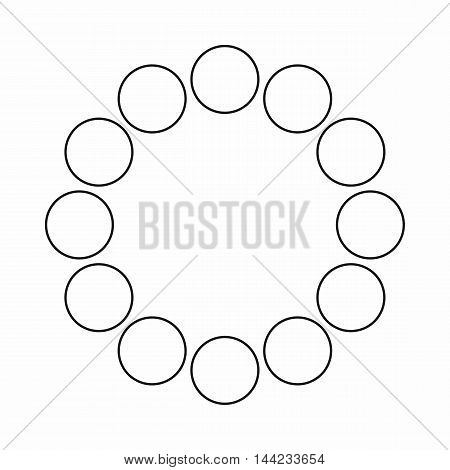 Sign expectations page load icon in outline style isolated on white background. Loading symbol