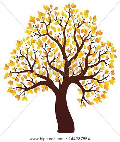 Autumn tree theme image 3 - eps10 vector illustration.