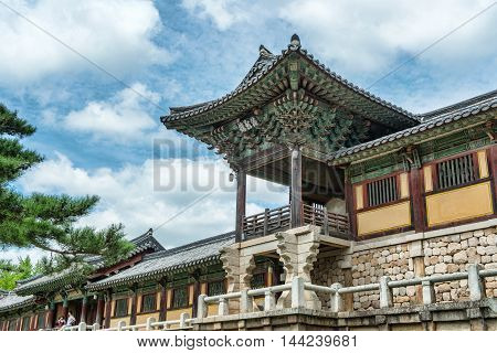 Gyeongju, South Korea - August 18, 2016: Bulguksa Temple Is One Of The Most Famous Buddhist Temples