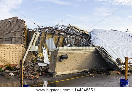 Kokomo - August 24 2016: Several EF3 tornadoes touched down, one of which destroyed a local Starbucks 7