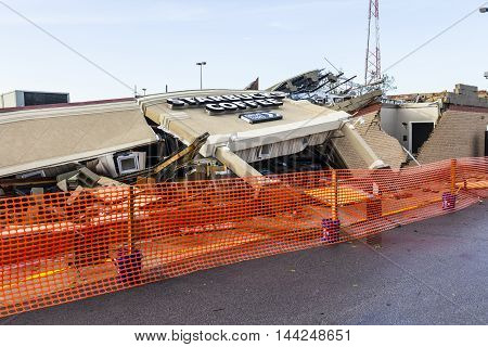 Kokomo - August 24 2016: Several EF3 tornadoes touched down, one of which destroyed a local Starbucks 13