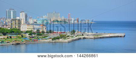 Havana Harbor And Cityscape