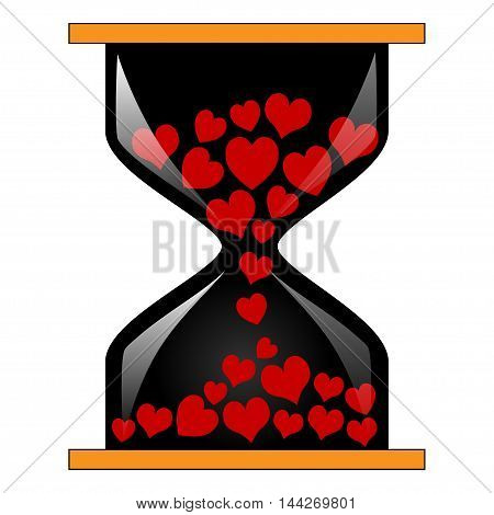 Illustration of time for love as a symbol of love.