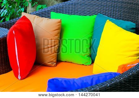 pillow colors on chair colorful pillow on chair decoration exterior