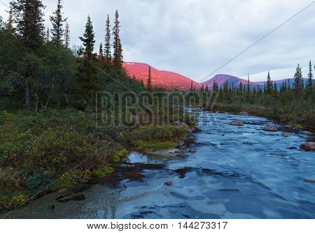 Mountain Landcape Of Polar Tundra