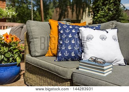 Relax With Book In The Garden