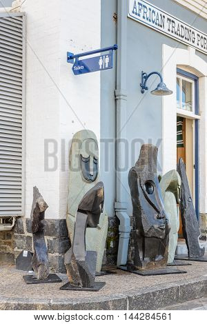 CAPE TOWN, SOUTH AFRICA - FEB 22, 2013: Modern art sculptures in Cape Town. Period of modern art extendes from  the 1860s to the 1970s