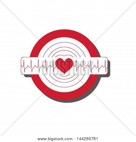 Vector Medical Illustration With Emblem Of Tachycardia. Flat Icon With Symbol Of Extremely Rapid Hea