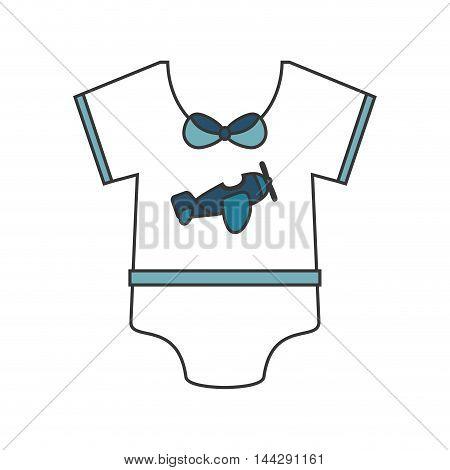 flat design Baby onesie icon vector illustration