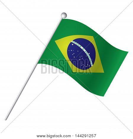 Isolated Brazilian flag Vector illustration, eps 10