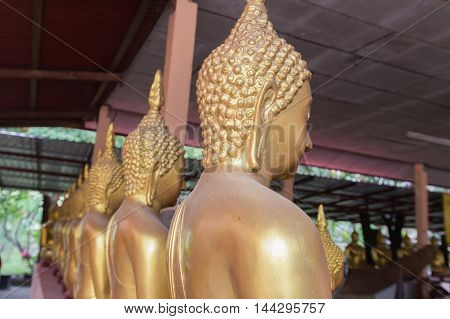 Cement Buddha Statues in a meditating posture