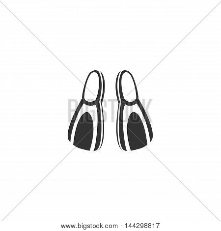 Vector Flippers icon isolated on a white background. Flippers logo in flat style. Simple icon as element for design. Vector symbol, sign, pictogram, illustration