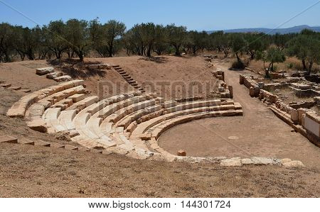 The Hellenistic Amphitheater at Ancient Aptera, Crete