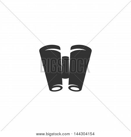 Vector Binocular icon isolated on a white background. Binocular logo in flat style. Simple icon as element for design. Vector symbol, sign, pictogram, illustration
