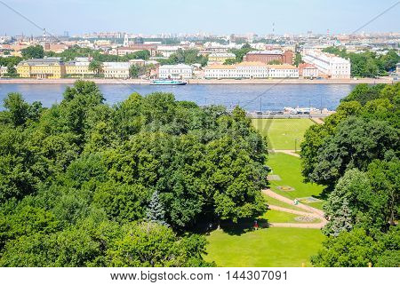 Scenic View From St. Isaac's Cathedral In St. Petersburg.