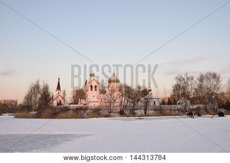 View Of The Three Churches In The Park Pulkovo