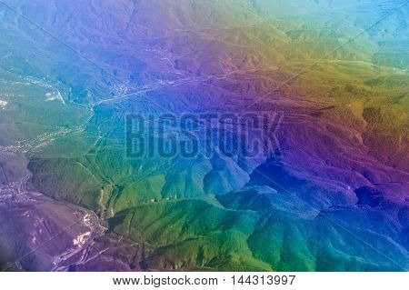 Sky Over Caucasus Mountains