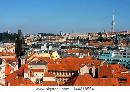 Cityscape of Prague city in Czech rep.