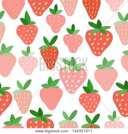 Strawberry Seamless Pattern Background. Summer Time Theme.
