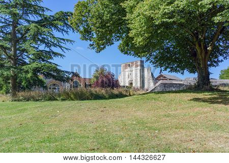 Farnham Castle from Farnham Park in Surrey