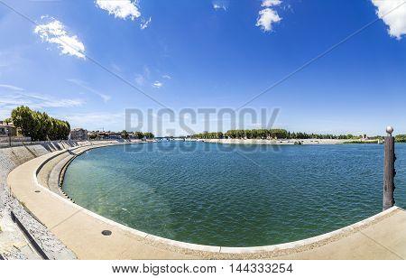 River Rhone In Arles