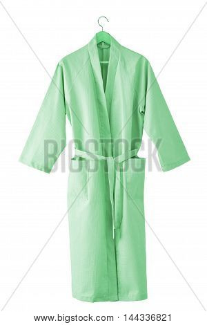 Bathrobe isolated on white background. Include clipping path poster