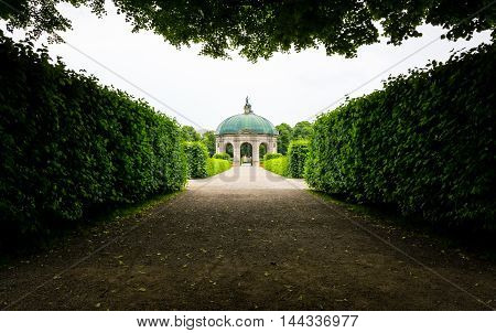 Residenz Hofgarten Monument Bushes Park Outdoor Munich Germany