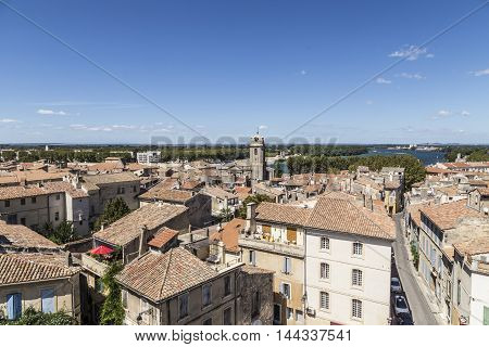 View With People From Famous Arena In Arles To Old Town