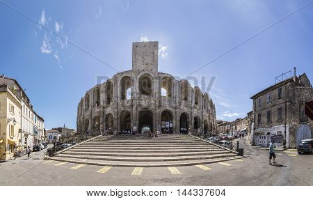 View To Famous Arena In Arles, France