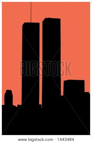Silhouette Of World Trade Towers