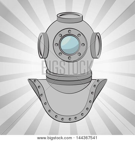 aqualung antique diving icon vector illustration graphic