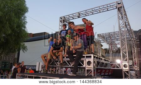 LOS ANGELES - AUG 24:  American Ninja Warrior Competitors at the