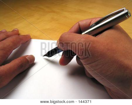 Hands Beginning To Write