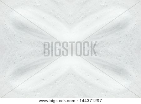 white foam from latte with bubbles for texture background