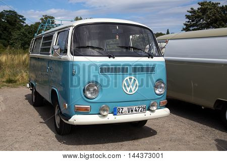 Celle, Germany - August 7, 2016: A Volkswagen Kombi Type 2 at the annual Kaefer Meeting