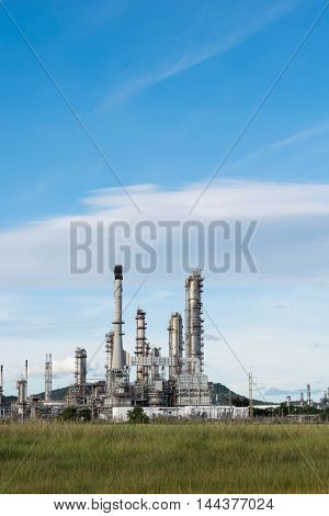 Petrochemical Industry Power Station In Afternoon Of Thailand