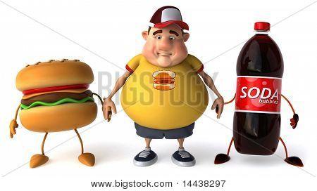 Sad overweight kid
