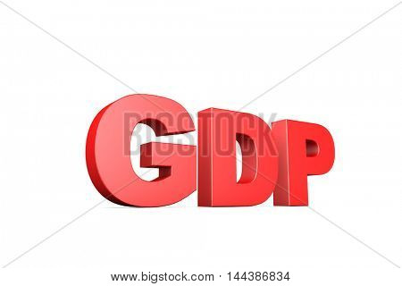 3d illustration word gdp