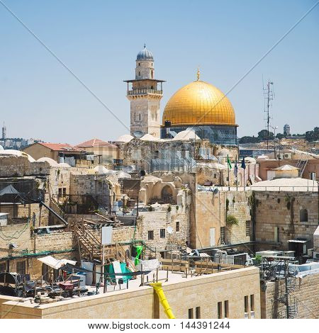 view of the Wailing Wall in Jerusalem