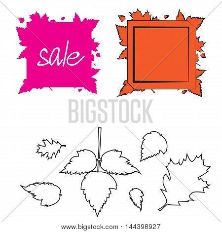 Autumn sale banner template design. templete illustration