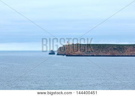Lighthouse On Cape St. Vincent, Algarve, Southern Portugal.