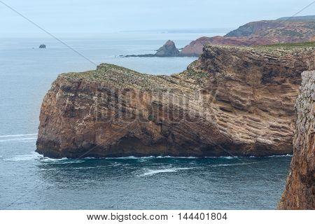 Summer Atlantic Coast (cape St. Vincent, Algarve, Portugal).