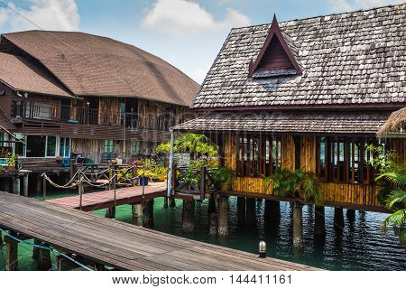 Houses On Stilts In The Fishing Village Of Bang Bao