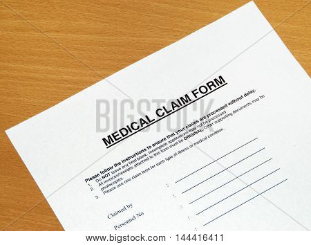 This is an image of medical claim form.