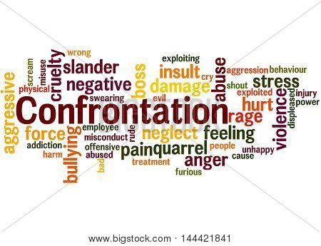 Confrontation, Word Cloud Concept 6