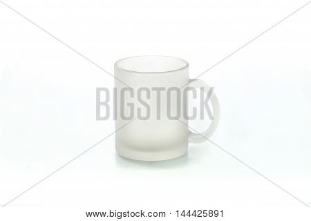 Cups For Sublimation Of Different Shapes And Colors On A White Background